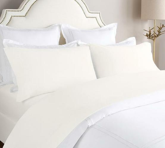 Flannel Bed Sheet In Ivory Color