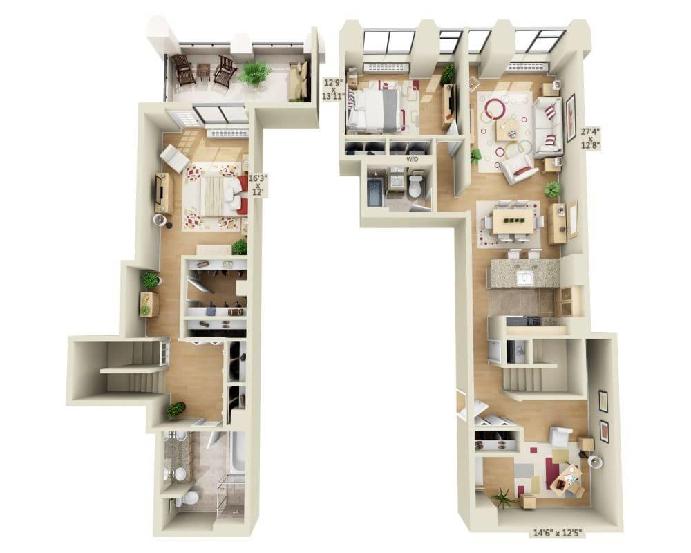 $7036 Two bedroom Apartment for rent