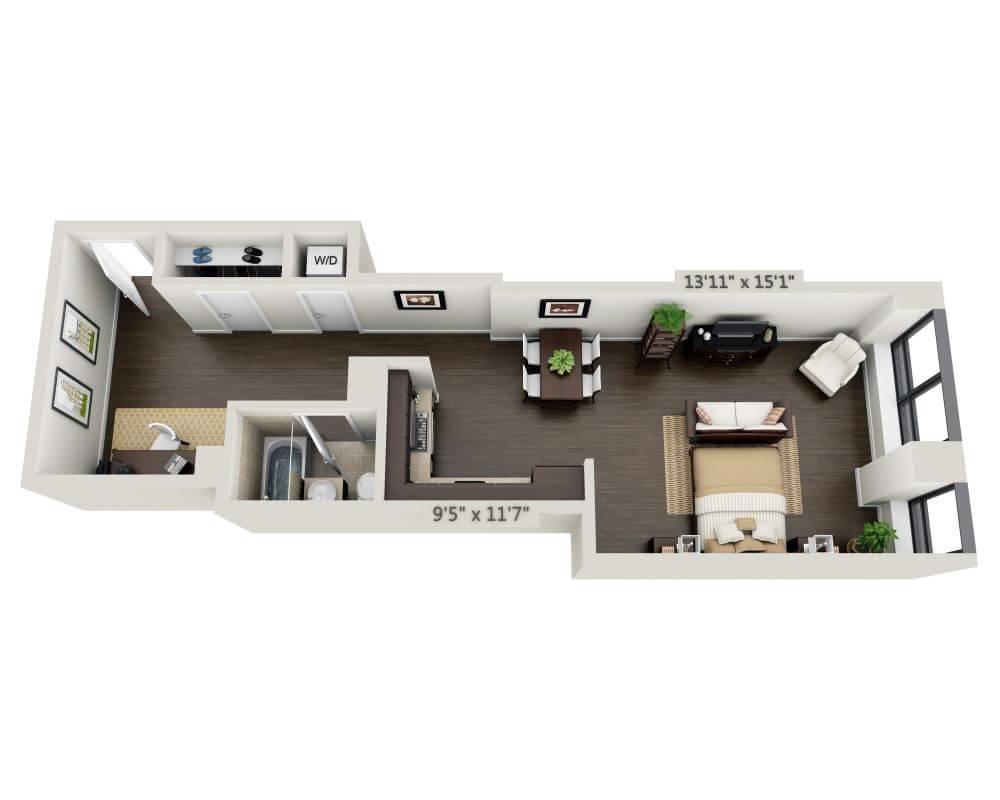 $3544 Studio Apartment for rent