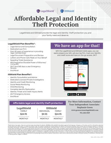 Affordable Legal and Identity Theft Protection