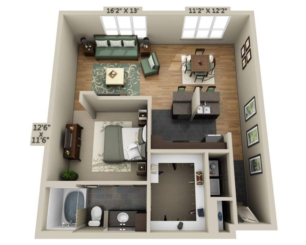 $1341 One bedroom Apartment for rent