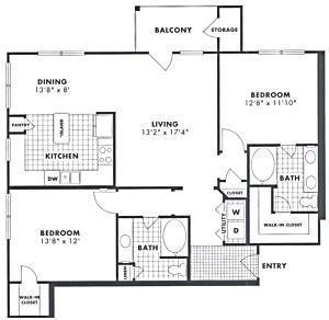 $1372 Two bedroom Apartment for rent