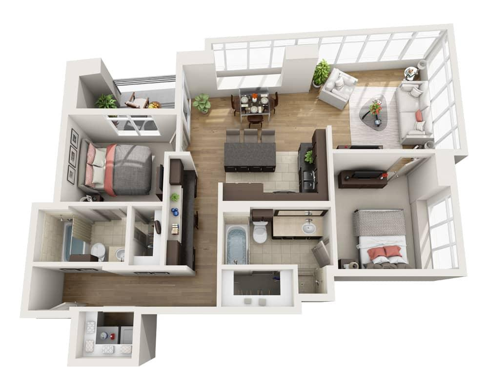 $5356 Two bedroom Apartment for rent