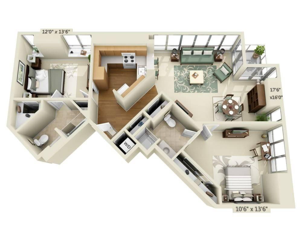 $5284 Two bedroom Apartment for rent