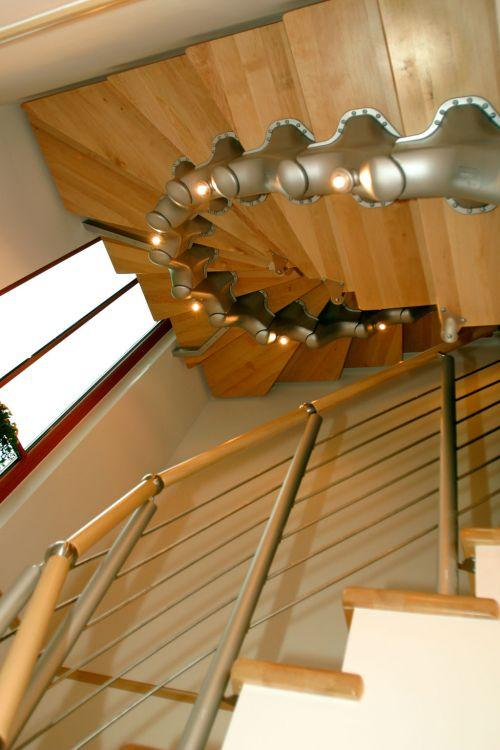 Spiral Stairs, Railing And Stair Threads
