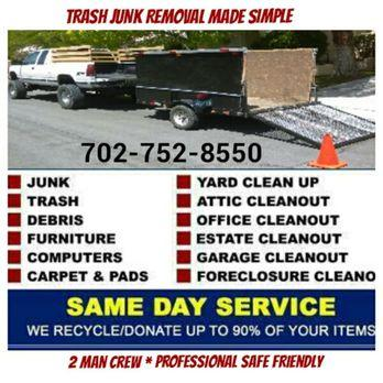 Got Trash? Got Junk? (702)752-8550