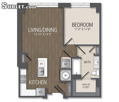 $1656 One bedroom Apartment for rent