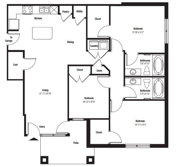 $1639 Three bedroom Apartment for rent