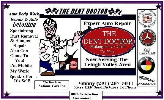 Dent Doctor Auto-Body Repair At Honest Low Fair Prices! Free Estimate (Easton P.A.)