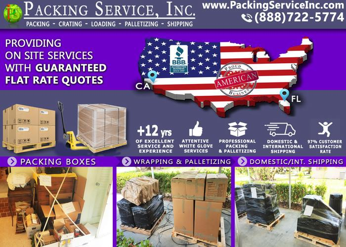 Packing Service, Inc.  Moving Service, Shipping Solutions,  Wrap Furniture, Crating Company