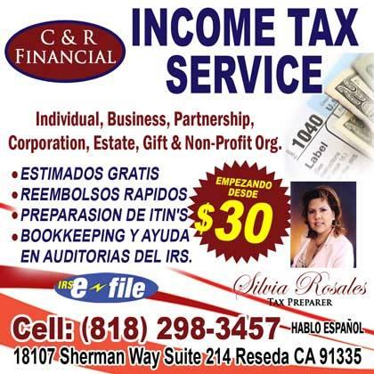 Financial Services and document prepararation/ Servicios Financieros (various locations.)