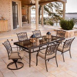 Gathering Patio Set - Table and Six Chairs