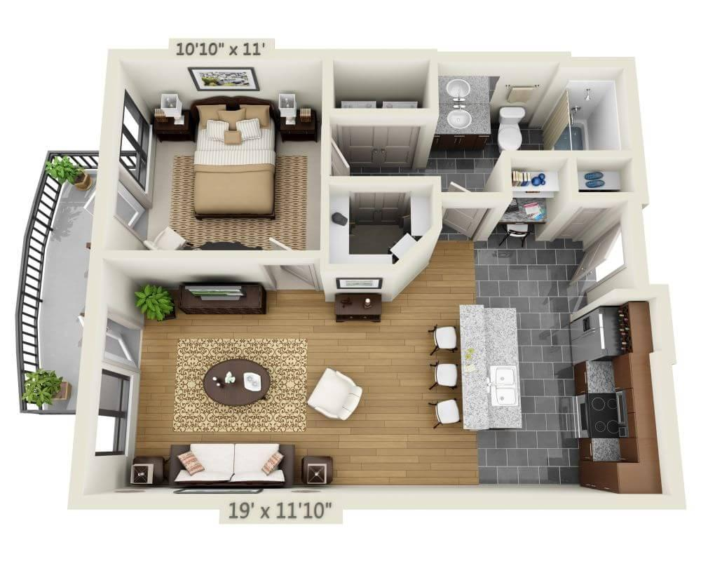 $1504 One bedroom Apartment for rent
