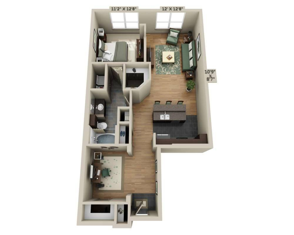 $1491 One bedroom Apartment for rent