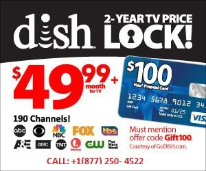 DISH NETWORK | FREE HD FOR LIFE | 2 YEAR TV PRICE | FREE VOICE REMOTE| 1877-250-4522