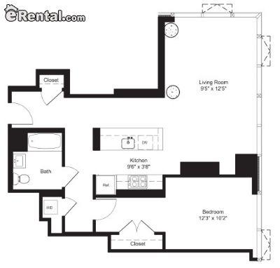 $6515 One bedroom Apartment for rent