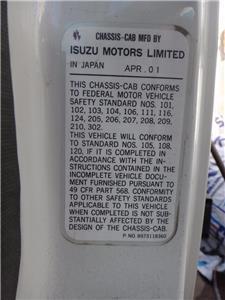 2002 GMC W5500 14' FLATBED TRUCK