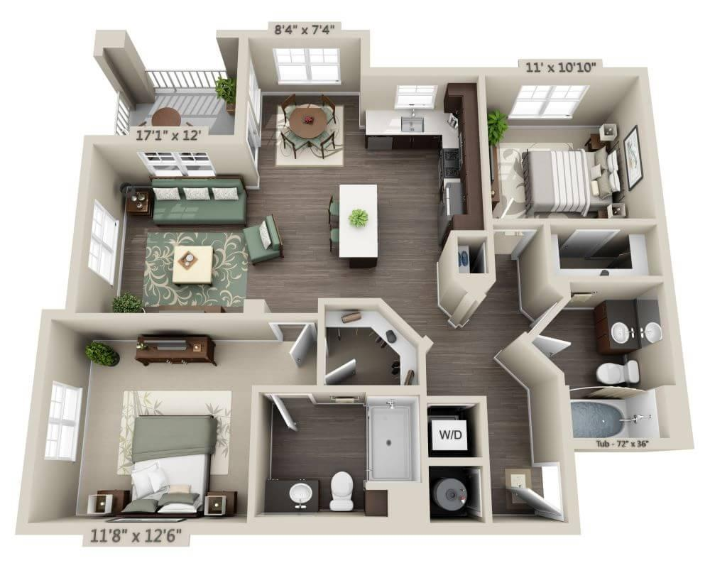 $2849 Two bedroom Apartment for rent
