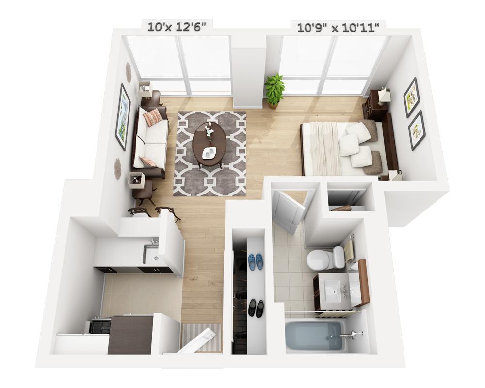 $3095 Studio Apartment for rent