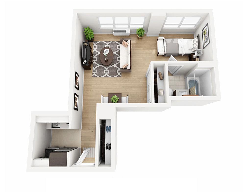 $3285 Studio Apartment for rent