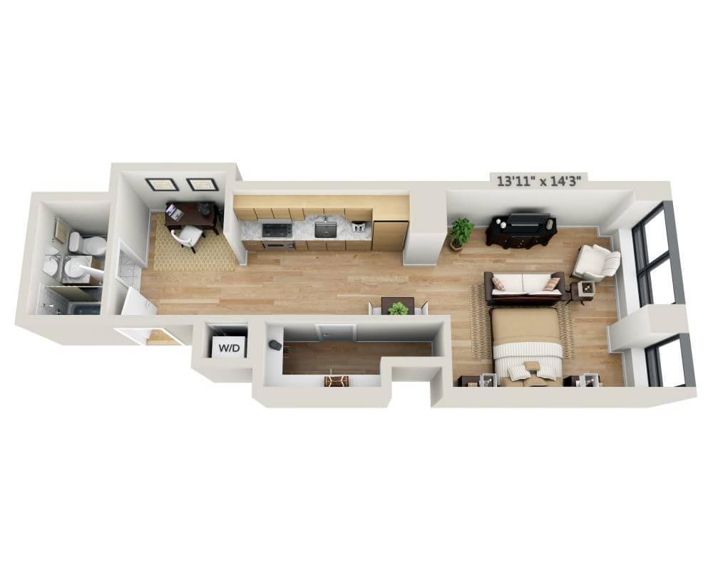 $3354 Studio Apartment for rent