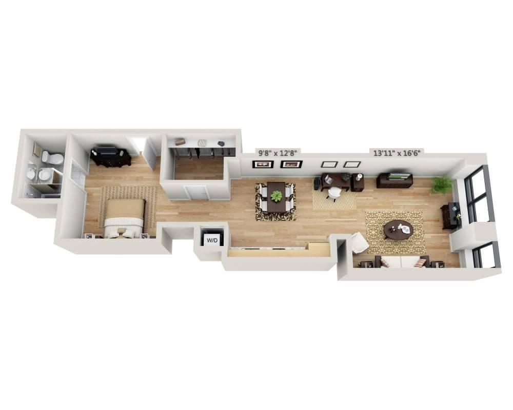 $3788 Studio Apartment for rent