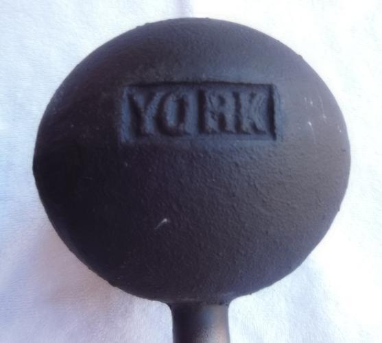 Vintage Globe Dumbbells Weights (2) 50 lb barbells