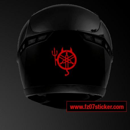 Back helmet Yamaha devil sticker
