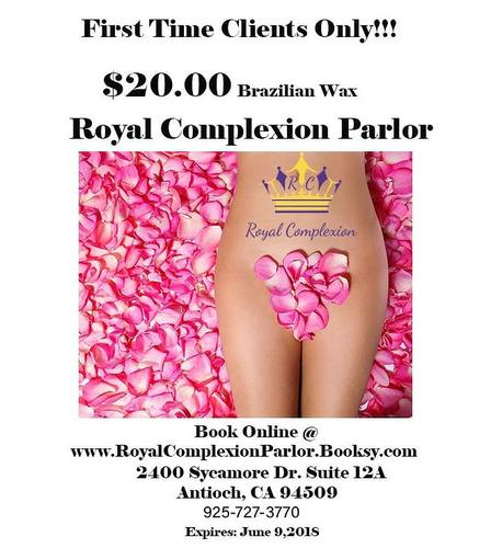 $20.00 Brazilian Wax for 1st time female clients