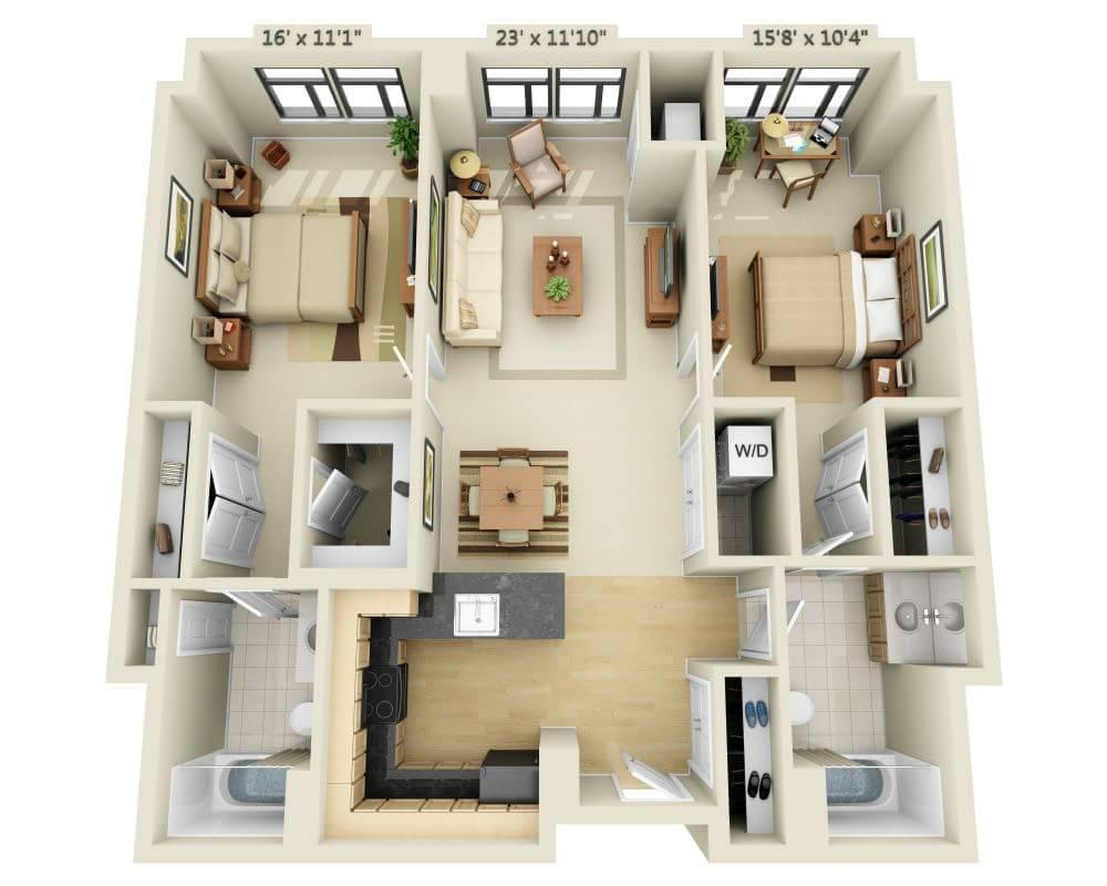 $2307 Two bedroom Apartment for rent