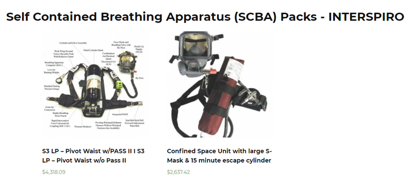 Self Contained Breathing Apparatus Packs | Breathing Air Equipment