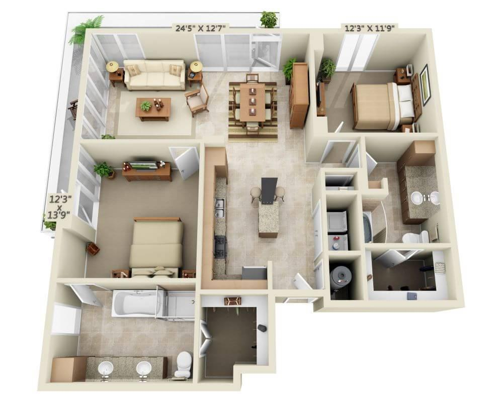 $2271 Two bedroom Apartment for rent