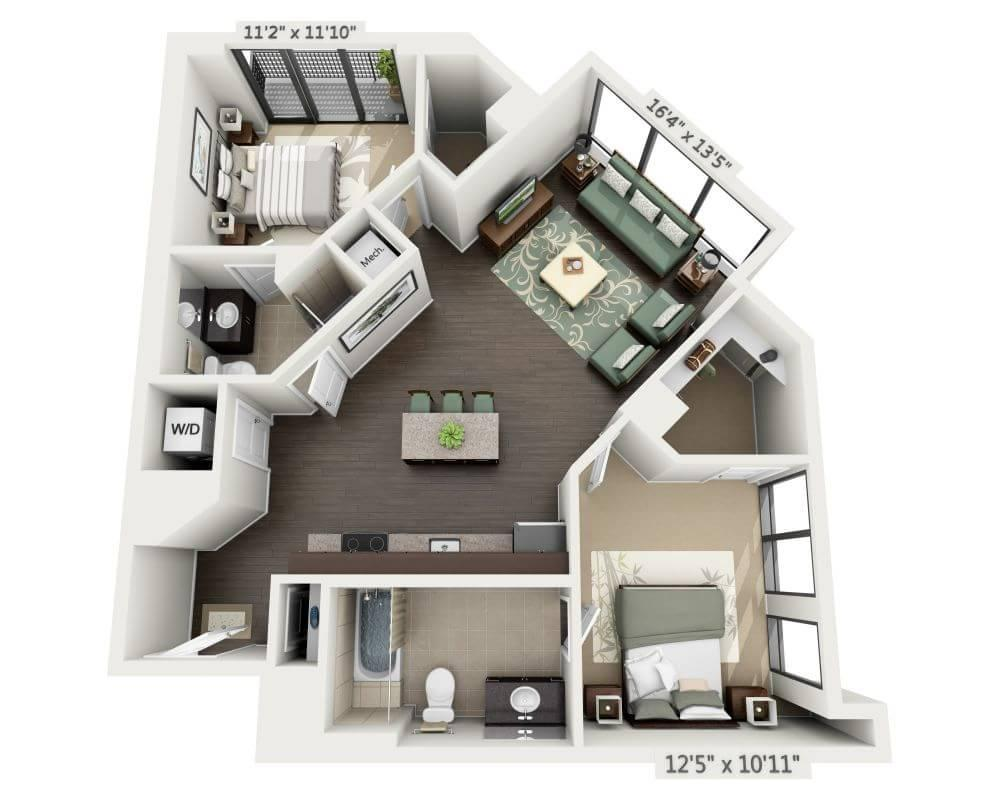 $2526 Two bedroom Apartment for rent
