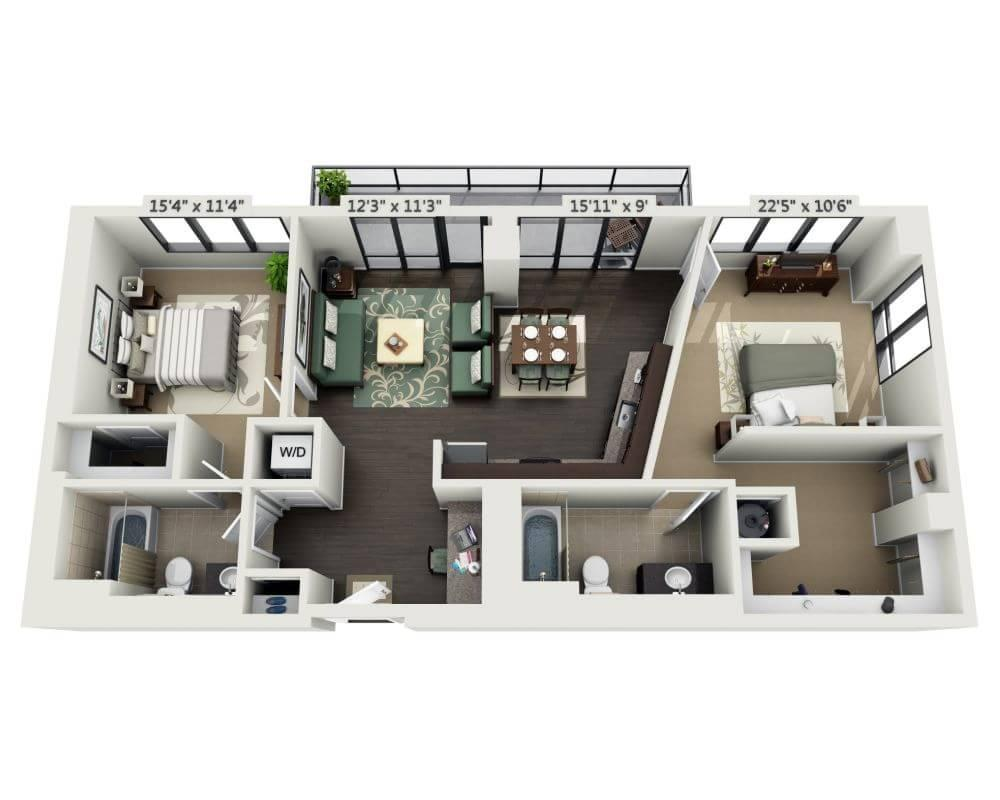 $2523 Two bedroom Apartment for rent