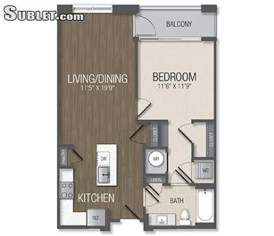 $1651 One bedroom Apartment for rent