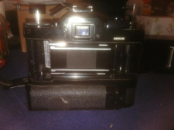 Canon A-1 Camera with 50mm Lens and Power Winder