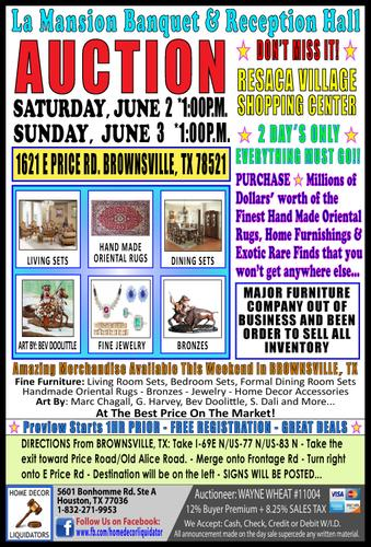 ***AUCTION*** LA MANSION BANQUET AND RECEPTION HALL IN BROWNSVILLE, TX - 2 DAY'S ONLY!!