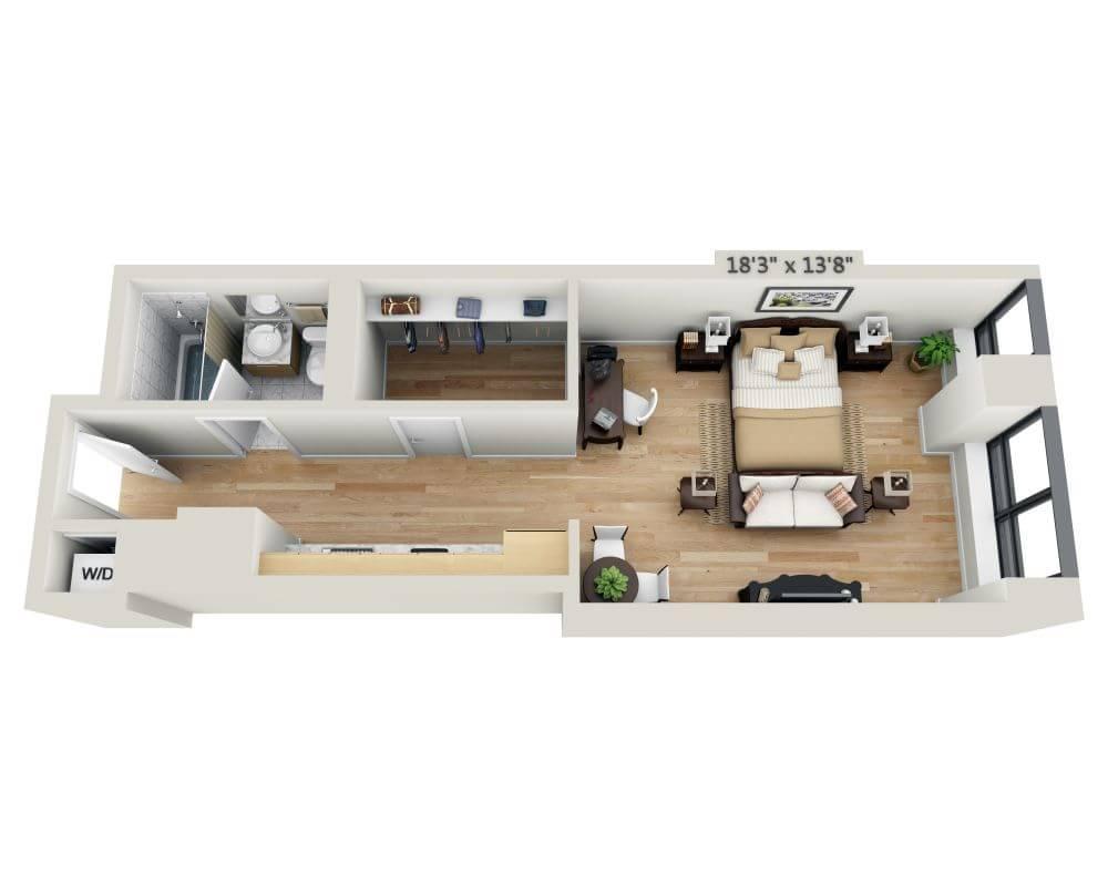 $3333 Studio Apartment for rent