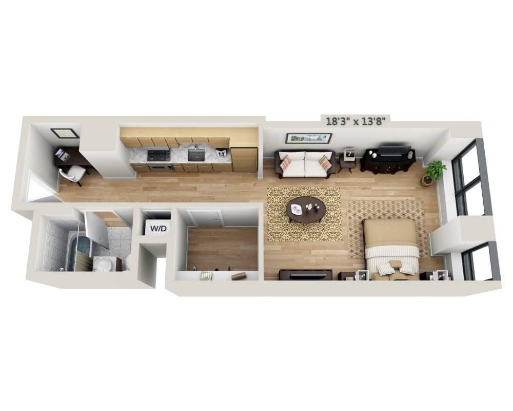 $3241 Studio Apartment for rent