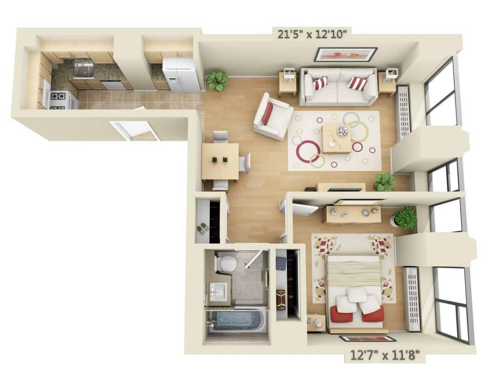 $3706 One bedroom Apartment for rent