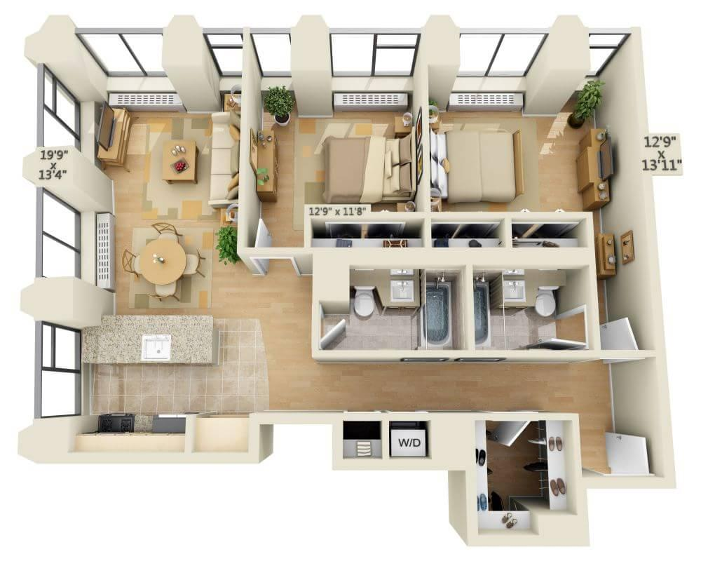 $5618 Two bedroom Apartment for rent