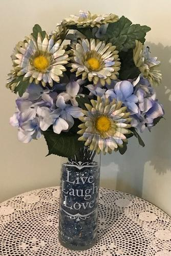 Silk Floral Arrangements set in Stone and Wax