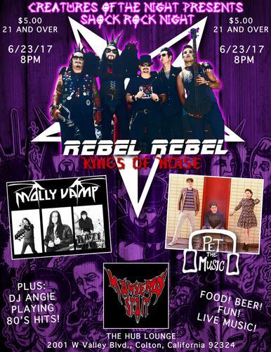 Live Music Rebel Rebel, Molly Vamp, Pet the Music