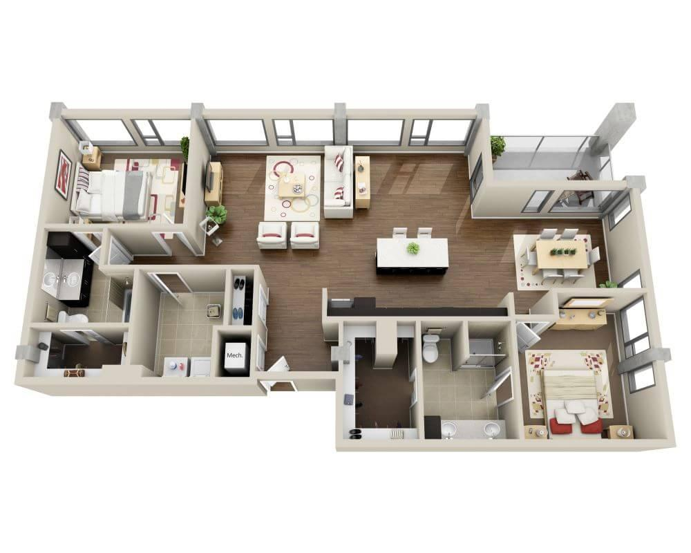 $7215 Two bedroom Apartment for rent