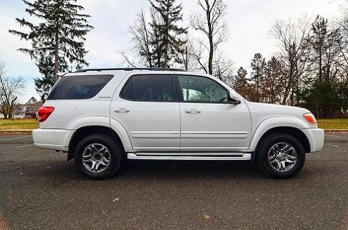 White metallic Toyota Sequoia Limited one owner