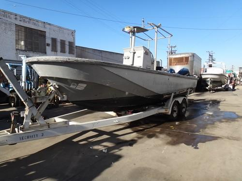 BOSTON WHALER; YEAR: 1989, 22 FT DIVE UTILITY BOAT WITH TRAILER