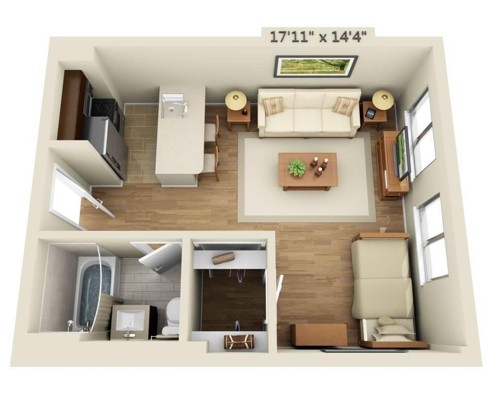$3491 Studio Apartment for rent