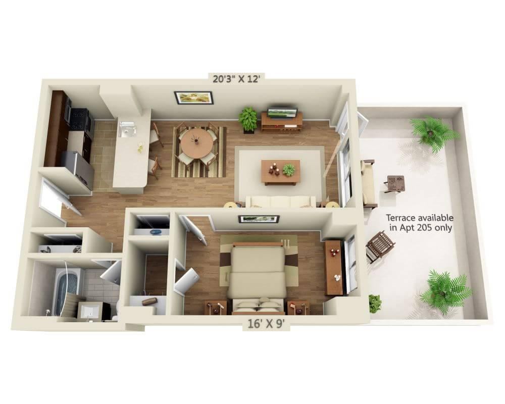 $4618 One bedroom Apartment for rent