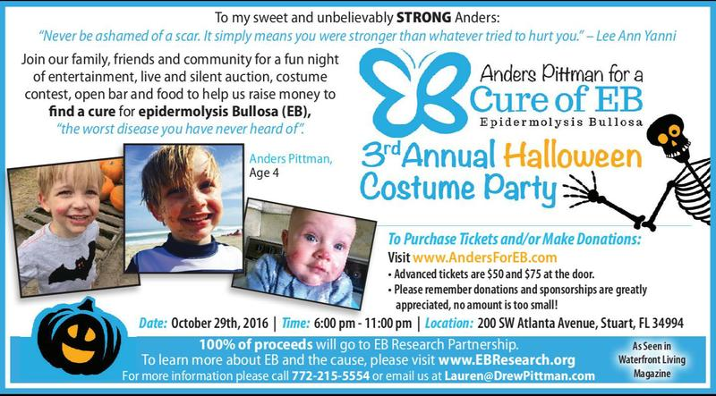 Halloween Party-Anders Pittman for a Cure of EB