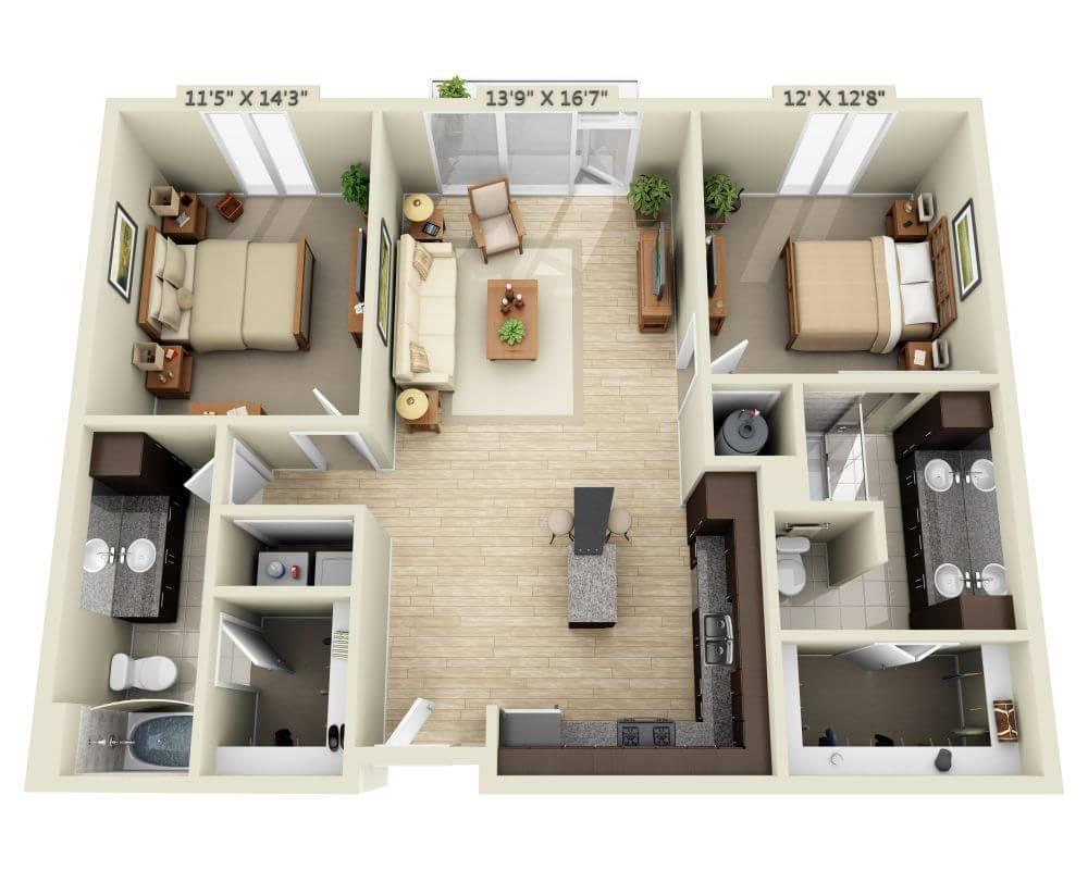 $1803 Two bedroom Apartment for rent